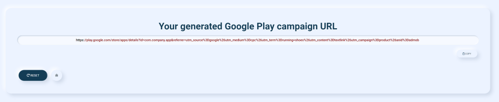 google play url builder result