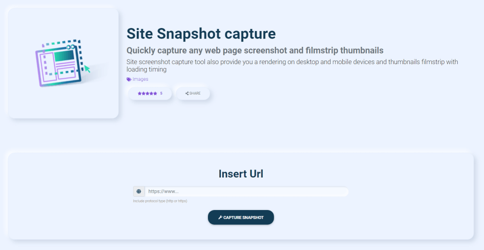 site snapshot
