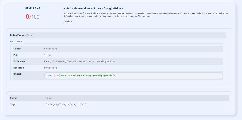 html lang